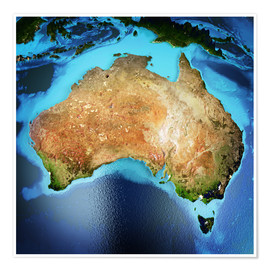Póster  Australia from space, NASA
