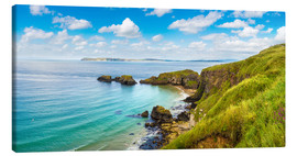 Lienzo  Coast of Northern Ireland on a beautiful summer day