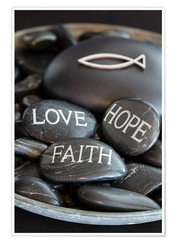 Póster Love Hope Faith