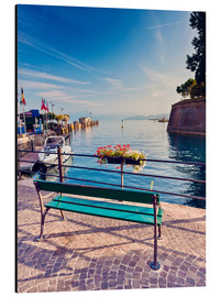 Aluminio-Dibond  Bench on the coast of Garda in Peschiera