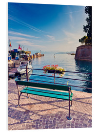 Cuadro de PVC  Bench on the coast of Garda in Peschiera
