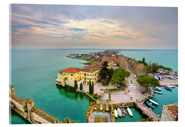 Cuadro de metacrilato  Scaglieri castle of Sirmione on Lake Garda