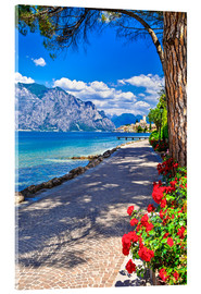 Metacrilato  Beautiful Lago di Garda panoramic view, Italy