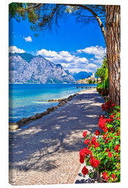 Lienzo  Beautiful Lago di Garda panoramic view, Italy