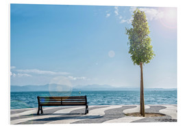 Forex  Shore of Lake Garda with Alps on the horizon