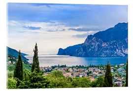 View of Riva Del Garda and Lake Garda, Lombardy, Italy