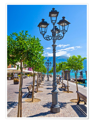 Póster Village of Gargnano, Lake Garda Italy