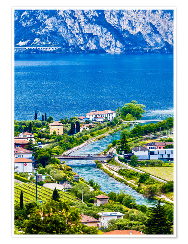 Póster View of Lake Garda in Northern Italy