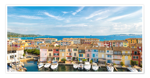 Póster Port Grimaud in the Gulf of St. Tropez