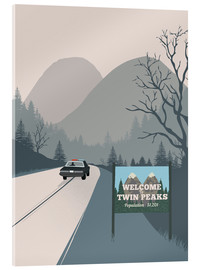 Cuadro de metacrilato  Welcome to Twin peaks - 2ToastDesign
