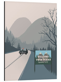 Cuadro de aluminio  Welcome to Twin peaks - 2ToastDesign