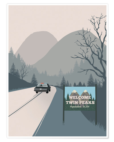 Póster Welcome to Twin peaks