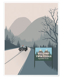 Póster  Welcome to Twin peaks - 2ToastDesign