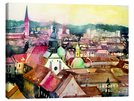 Lienzo  Graz, view to the cathedral - Johann Pickl