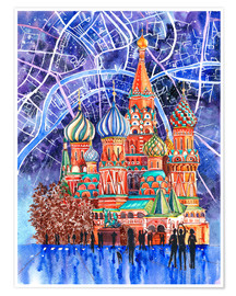 Póster  Red Square, Moscow, Russia - Anastasia Mamoshina