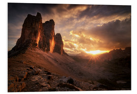 Forex  Three Peaks Dolomites Sunset - Christian Möhrle