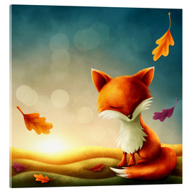 Metacrilato  Little red fox - Elena Schweitzer