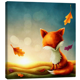 Lienzo  Little red fox - Elena Schweitzer