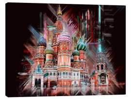 Lienzo  Moscow Basilica Cathedral - Peter Roder
