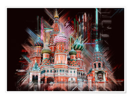 Póster  Moscow Basilica Cathedral - Peter Roder