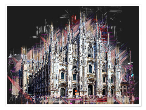 Póster Duomo di Milano the Cathedral of Milan