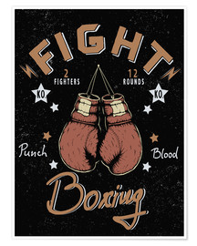 Póster  boxing match