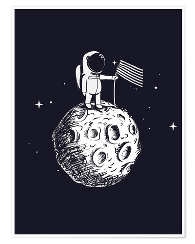 Póster The first man on the moon