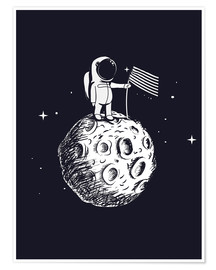 Póster  The first man on the moon - Kidz Collection