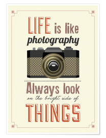Póster Life is photography
