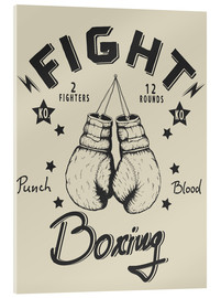 Cuadro de metacrilato  Fight - Boxing