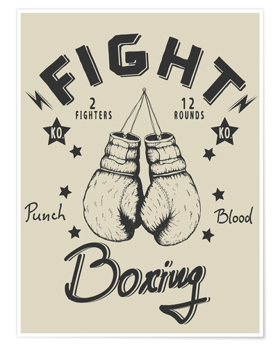 Póster Fight - Boxing