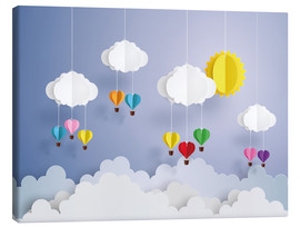 Lienzo  Balloon ride in the clouds - Kidz Collection