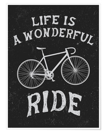 Póster  Life is a wonderful ride