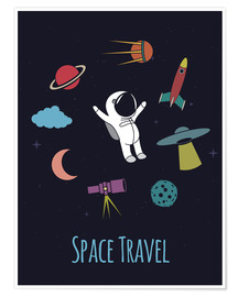 Póster Space Travel