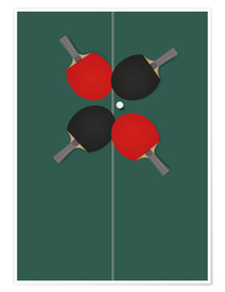 Póster Table tennis