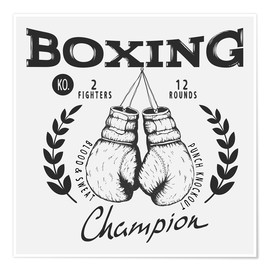Póster Boxing champion