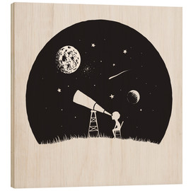 Cuadro de madera  Looking into the stars - Kidz Collection