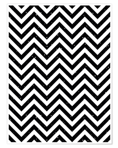 Póster Herringbone pattern black and white