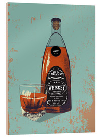 Cuadro de metacrilato  Whiskey bottle and glass