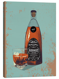 Lienzo  Whiskey bottle and glass