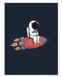 Póster  Pequeño astronauta con cohete - Kidz Collection