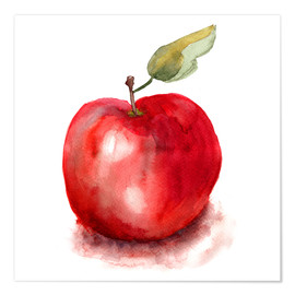Póster  Sweet apple watercolor