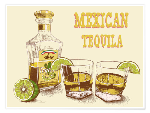 Póster Tequila mexicano