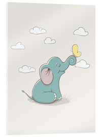 Metacrilato  Little elephant with butterfly - Kidz Collection