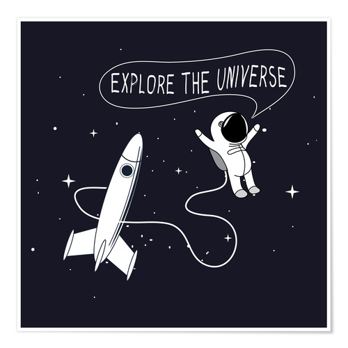 Póster Space explorers