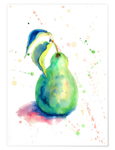 Póster Sweet pear watercolor