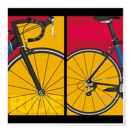 Póster  Bicicleta pop art