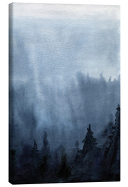 Lienzo  Mist over the forest