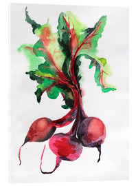 Radish watercolor