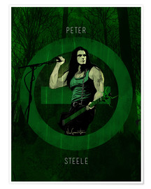 Póster peter steele